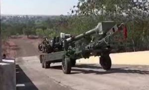 Howitzer Advanced Towed Artillery Gun System Undegoing Trials By Indian Army
