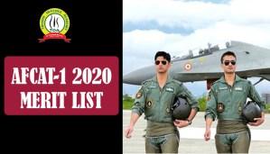 AFCAT 1 2020 Merit List : Check It Here