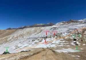 Indian and Chinese forces face to face at Rechin La Pass