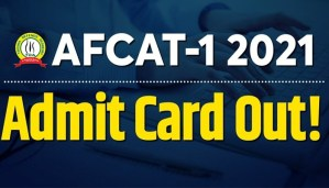 AFCAT 1 2021 Admit Card Out : Exam Date Update