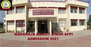 Maharaja Ranjit Singh Armed Forces Preparatory Insitute- AFPI Admission 2021