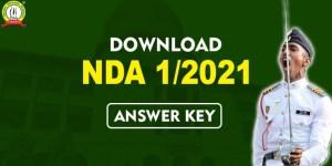 NDA Answer Key 2021, Download NDA 1/2021 Answer Key Of Math And GAT