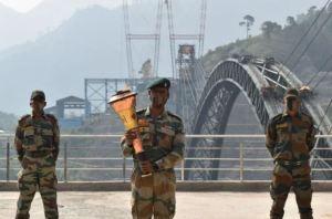 Golden Victory Torch Carried Over World's Highest Railway Bridge