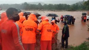 Raigarh Landslide : NDRF-Army Team At Rescue Work
