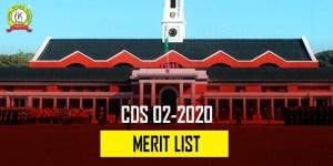 CDS 2 2020 Merit List : Total 129 Candidates Qualified