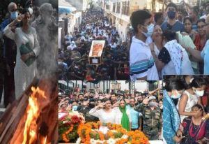 Last Rites Of Martyr Major Mayank Vishnoi Performed In Hometown Meerut With Full Honour