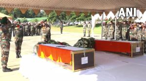 Indian Army Pays Homage To Martyrs Major Rohit Kumar and Major Anuj Rajput