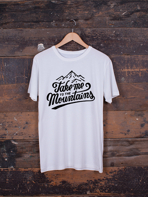 Minimalist T Shirt Take Me To The Mountains