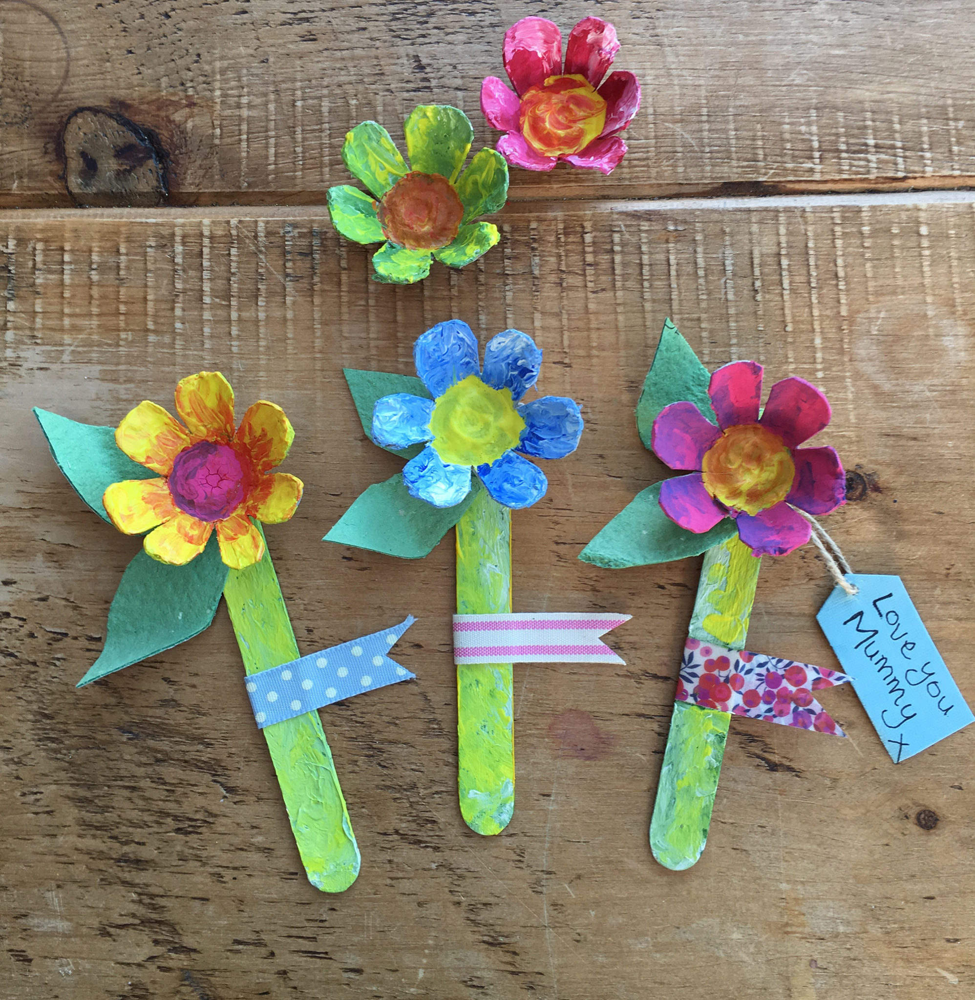 Mother S Day Egg Box Flowers Craft