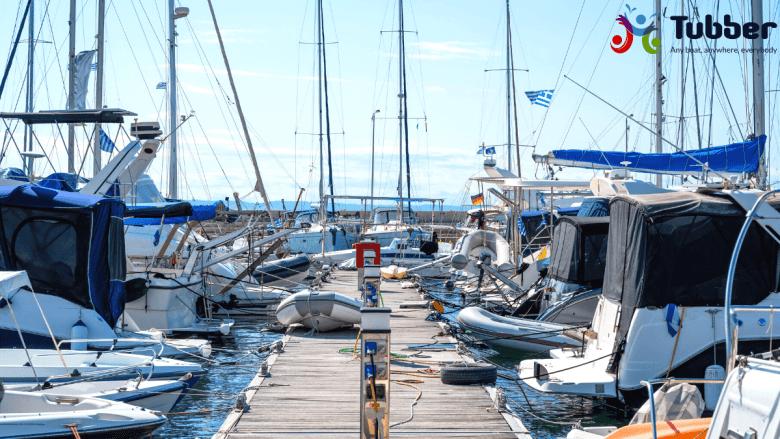 Kleine haven van Nikiti, Chalkidiki, Greece