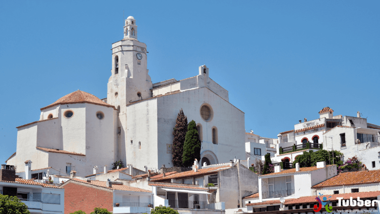 Santa Maria kerk in Cadaqués in Spanje