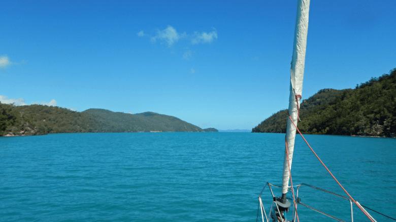 Hook Island vanaf een zeilboot