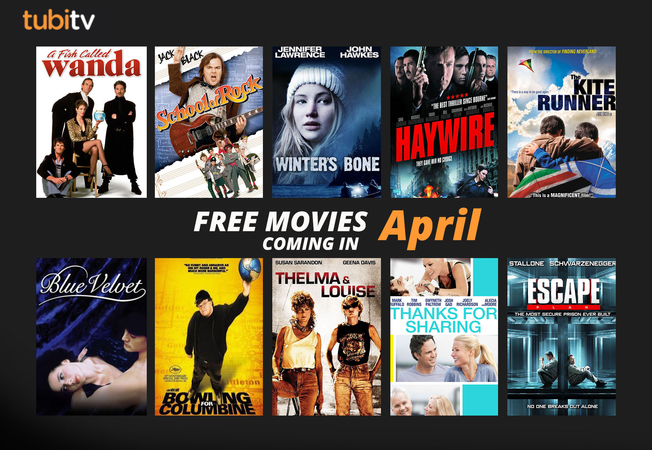 Tubi TV's April Free Movie Arrivals | Tubi