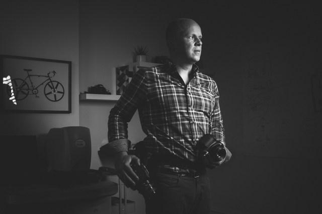 BW Editorial Portrait of Kirk Mastin by Tuffer