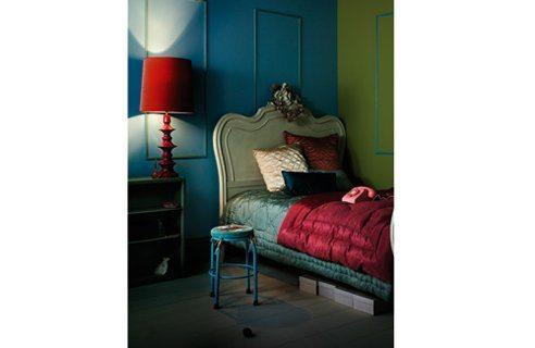 Red Teal Bedroom