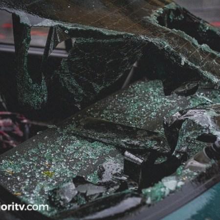 cristal coche roto