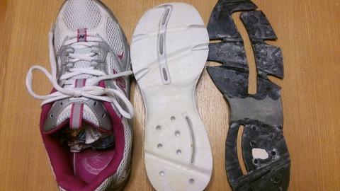 はがれた靴底