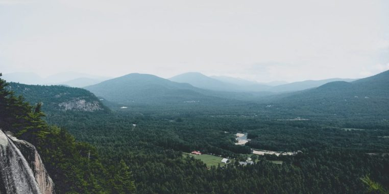 Green landscape in North Conway