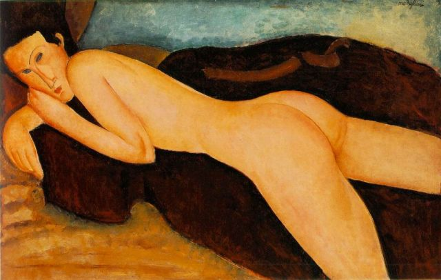 02 Amedeo Modigliani, Reclining Nude from the Back