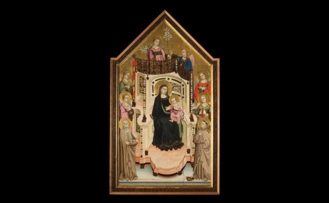 02 Maestro di Figline, Maestà con i santi Ludovico di Tolosa ed Elisabetta d'Ungheria, Collegiata di Santa Maria Assunta, Figline Valdarno