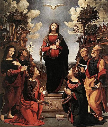 04 Piero di Cosimo, The Immaculate Conception with Saints, 1495-1505, Uffizi Gallery, Florence