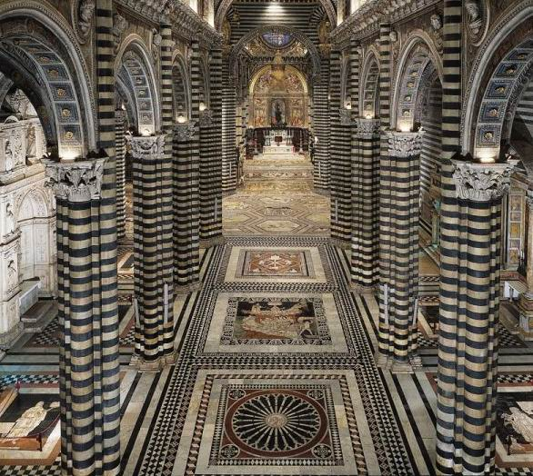 Rent Com: Siena Cathedral Uncovers Its Mosaic Floor