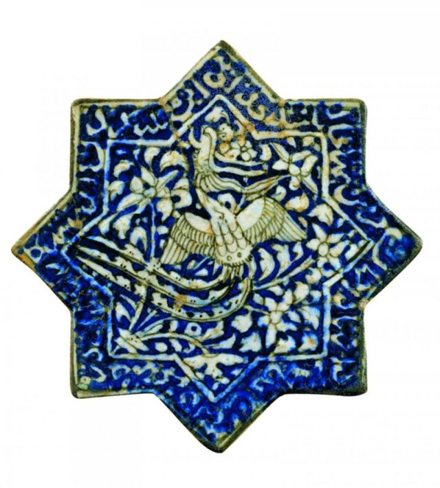 Glazed ceramic tile from central Persia, early 14th century, Museo Nazionale del Bargello, Florence