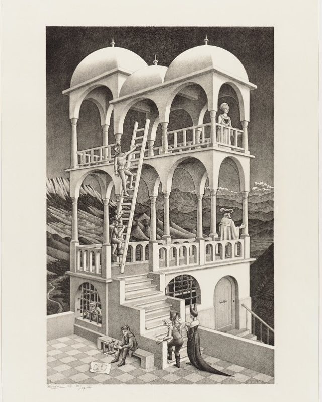 M.C. Escher, Belvedere, 1958 © the M.C. Escher Company B.V.-Baarn- the Netherlands