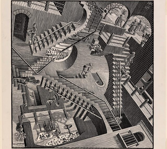 M.C. Escher, Relativity, 1953 © the M.C. Escher Company B.V.-Baarn- the Netherlands.