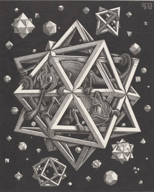 M.C. Escher, Stars, 1948 © the M.C. Escher Company B.V.-Baarn- the Netherlands All rights reserved