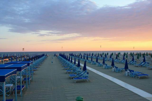 The beaches of Viareggio @Carnevale di Viareggio