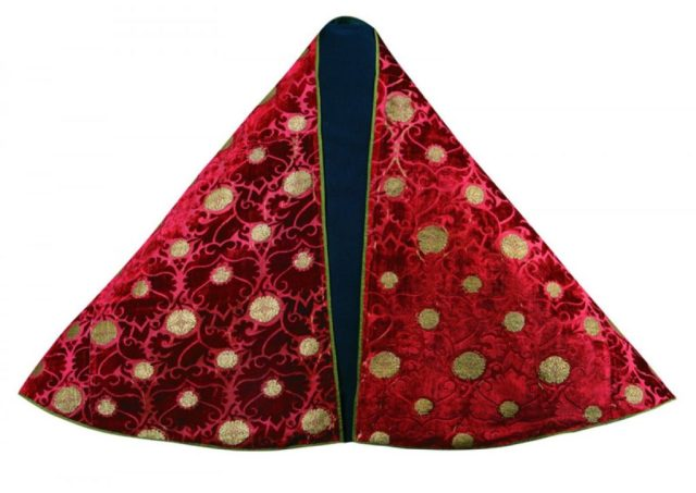 Velvet cope, brocaded silk and gold filé, first quarter 15th century, Museo Nazionale del Margello, Florence