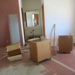 Bathroom cabinet removal