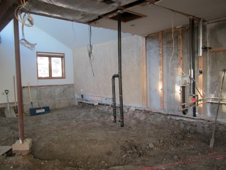 Family room bath and back corner