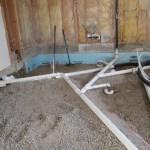Wet vented master bath drains