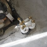 Old kitchen drain location.