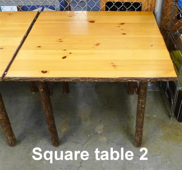 Hickory Square Table