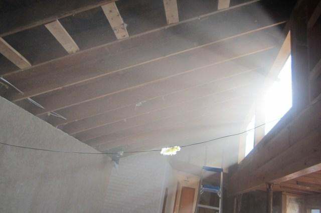 Tear down living room ceiling