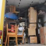Start of unloading the moving truck