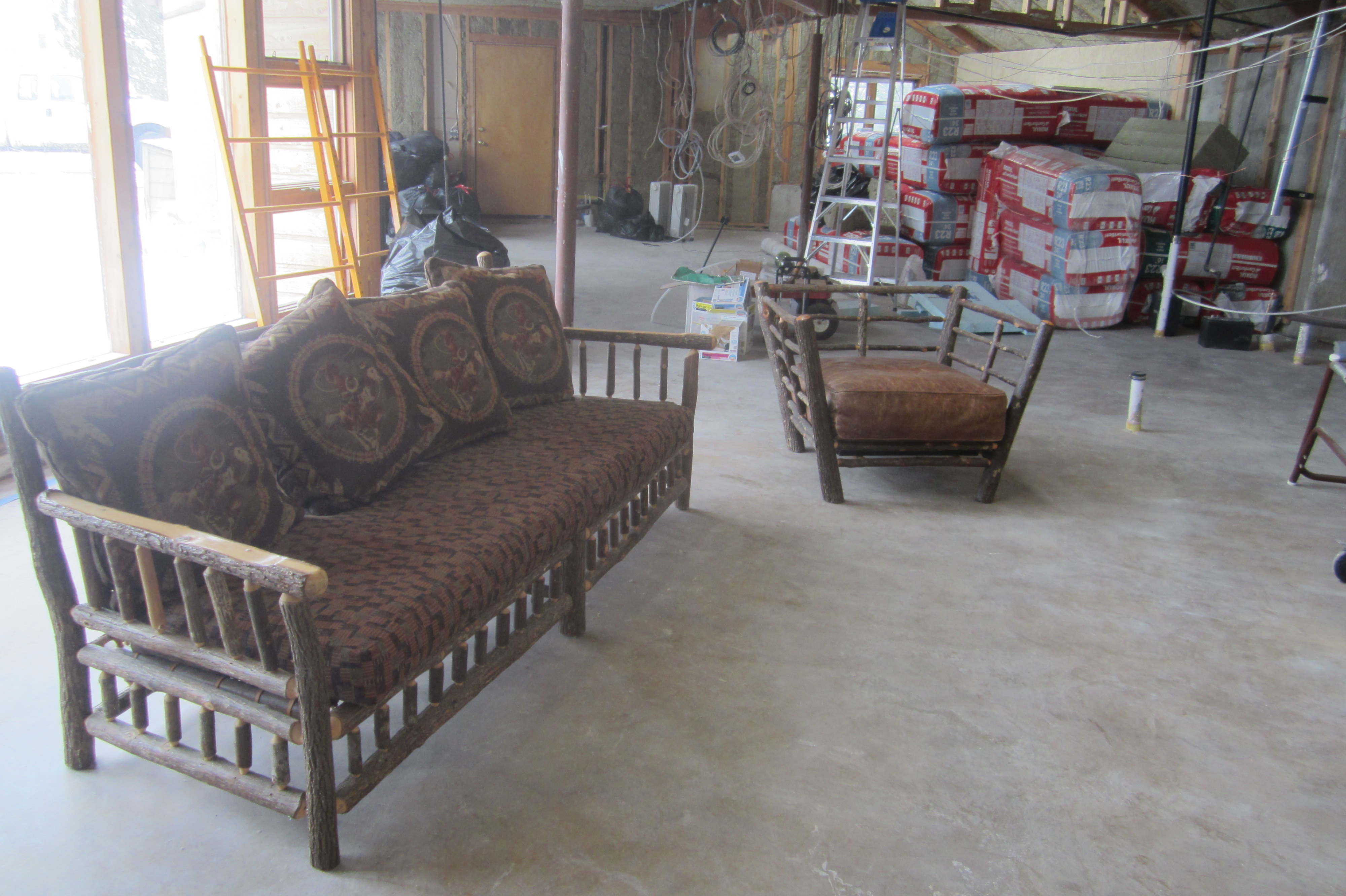 Home comfort in an unfinished house twinsprings research institute - Living room furniture your comfort is a priority ...