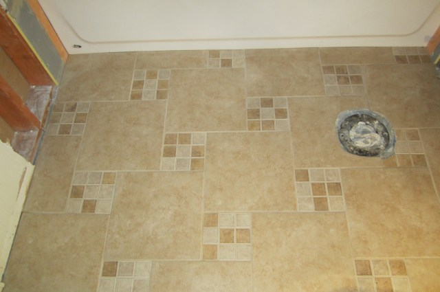 New floor main bath