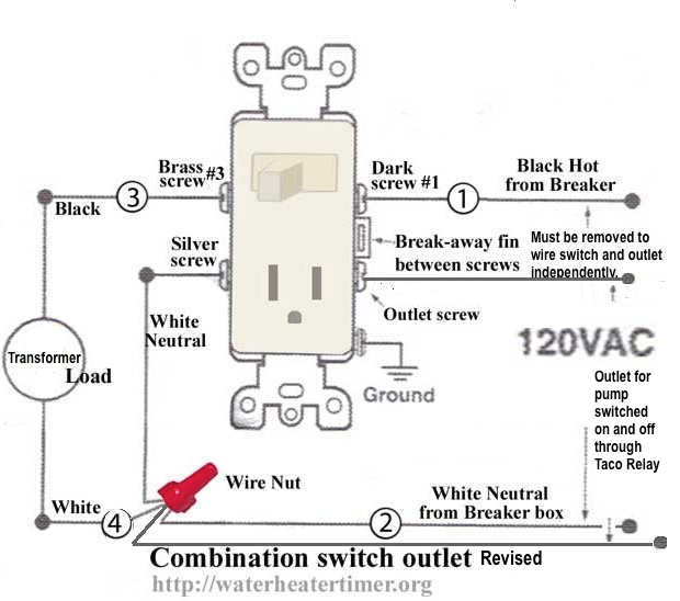 wiring a light switch outlet combo how to add an outlet to a, Wiring diagram