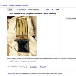 Spa Sconces $100 Craigslist Ad