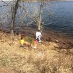 Playing at Carter Lake