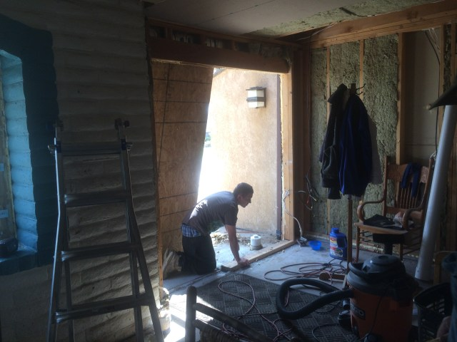 Mud Room Door Reframe