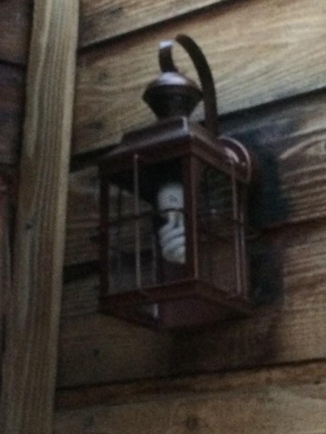 New porch light