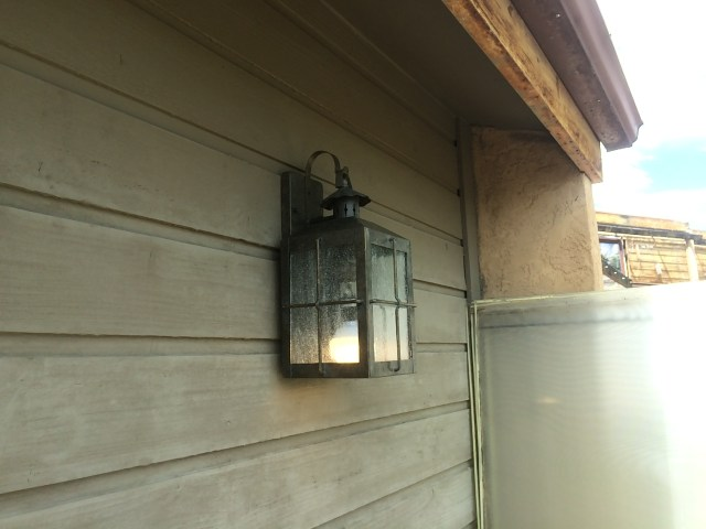 Re-installed garage light