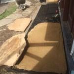 Sand on weed block