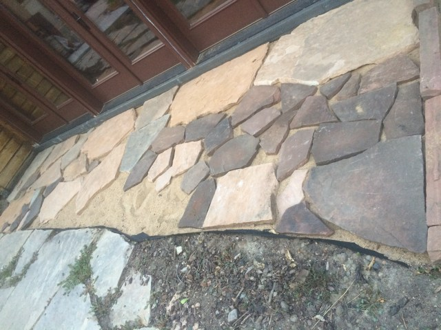 Patio dark and light stone
