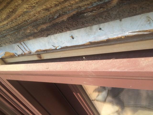 Top edge of patio doors